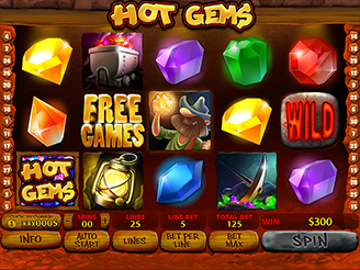 Play Hot Gems Slots Online