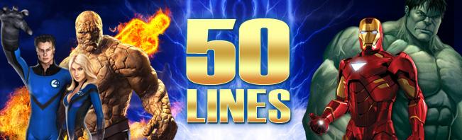 Marvellous 50-Payline Slots