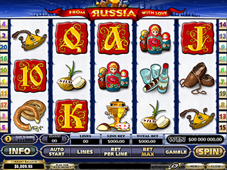Play From Russia With Love Slots Online