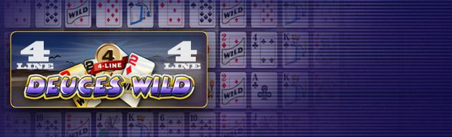4 Line Deuces Wild Video Poker