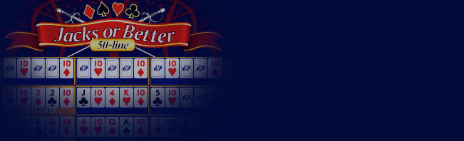 50-Line Jacks or Better Video Poker