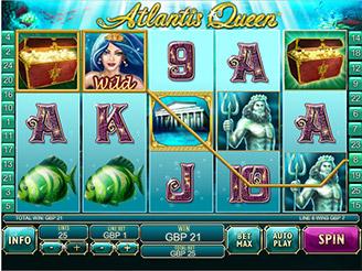 Spielen sie Atlantis Queen Spielautomaten Online