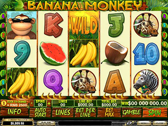Play Banana Monkey Slots Online