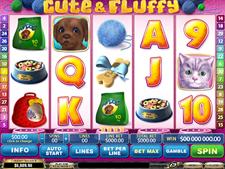 Play Cute & Fluffy Online Pokies