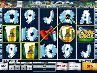Play Football Fans Online Pokies