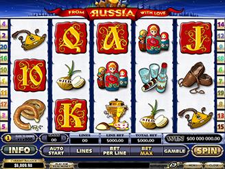 Spielen sie From Russia with Love Spielautomaten Online