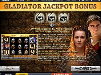 Spielen sie Gladiator Jackpot Spielautomaten Online