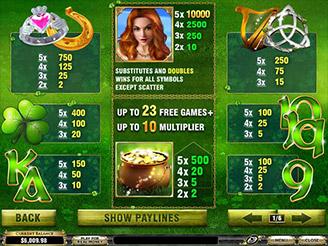 Spielen sie Irish Luck Spielautomaten Online