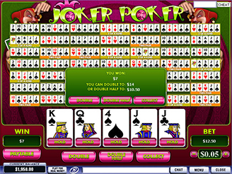 Play Joker Poker Videopoker Online