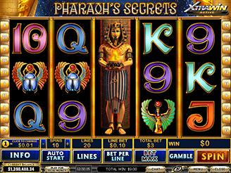 Spielen sie Pharaoh's Secrets Spielautomaten Online
