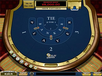 Play Progressive Baccarat Card Games Online