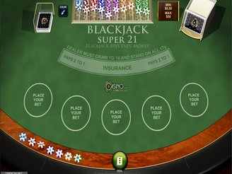 Play Blackjack Super 21 Online