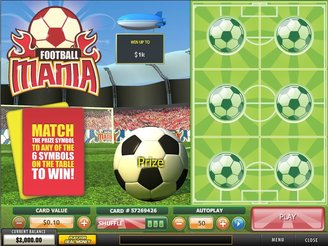 Play Football Mania Scratch Online