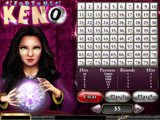 Play Fortune Keno Arcade Online