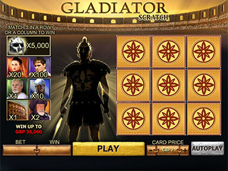 Play Gladiator Scratch Online