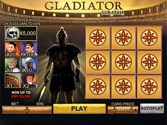 Play Gladiator Scratch Games Online