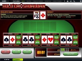 Play Hold'Em Showdown Arcade Games Online