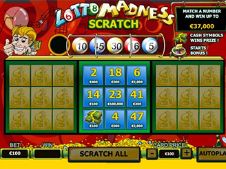 Play Lotto Madness Scratch Online