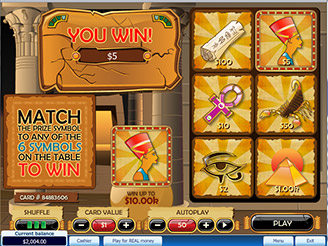 Play Pharaoh's Kingdom Scratch Online