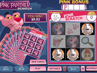Play Pink Panther Scratch Online