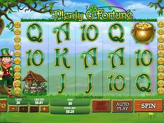 Spielen sie Plenty O'Fortune Spielautomaten Online