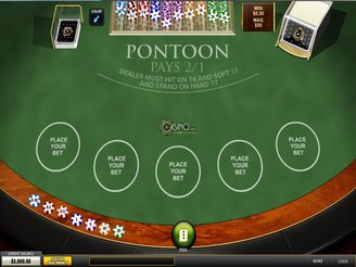 Play Blackjack Pontoon Online