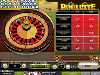 Play Roulette Scratch Games Online