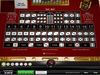 Play Sic Bo Table Games Online