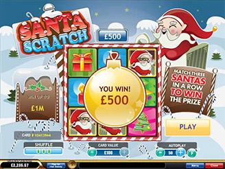 Play Santa Scratch Online