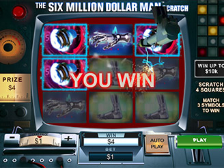 Play The Six Million Dollar Man Scratch Games Online
