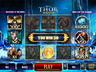 Play Thor Scratch Online