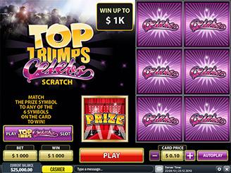 Play Top Trumps Celebs Scratch Games Online