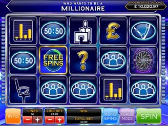 Play Who Want To Be A Millionaire Slots Online