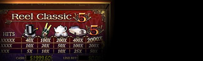 Reel Classic 5 Spielautomaten